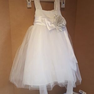 5be13d6afd Chantilly place exqisit white glittery dress
